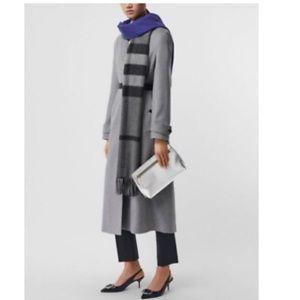 $2690 Burberry peak lapel cashmere wrap coat size6